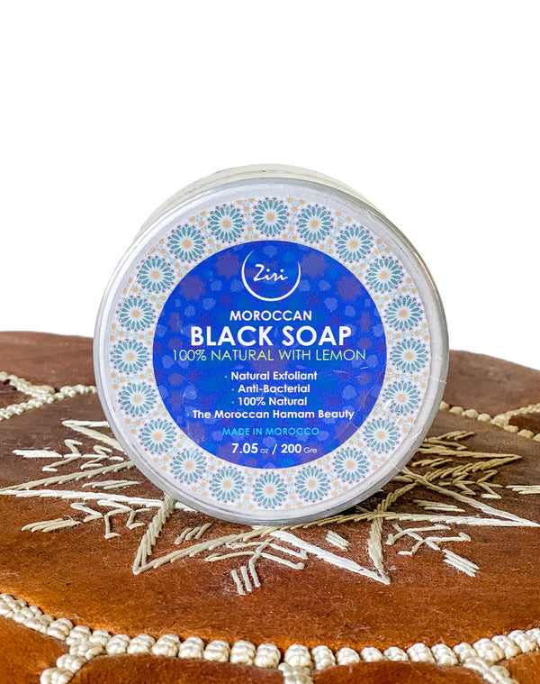 Moroccan Black Soap with Lemon - Natural Moroccan Skin and Hair Care