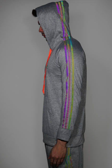 Reflective Hoodie for Men + Track Pants