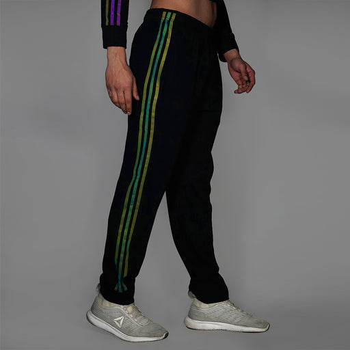 Men's Reflective Black Track Pants