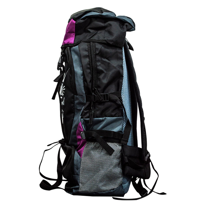 Travel Is Always a Good Idea Hiking Bag 50 LTR (Purple) FREE RAIN COVER