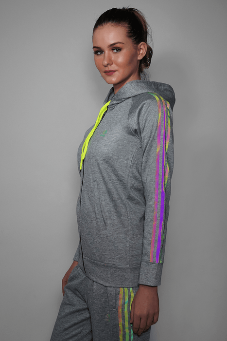 Grey Reflective Hoodie For Women