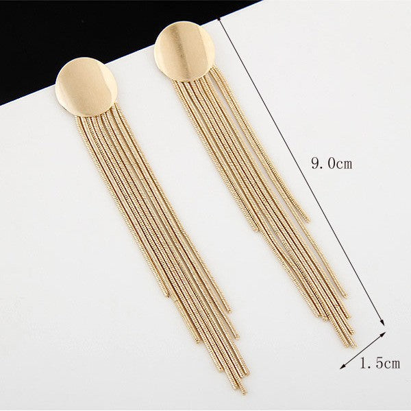 Fashion Exaggerated Gold/Silver Metal Earrings
