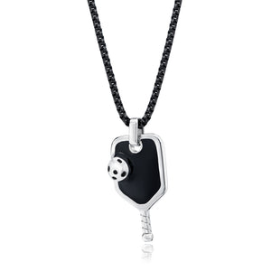 Pickleball Necklace | Paddle in Stainless Steel