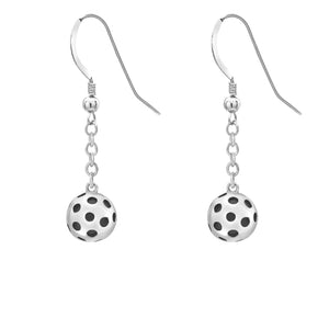 Pickleball Earrings | Ball Drop in Sterling Silver