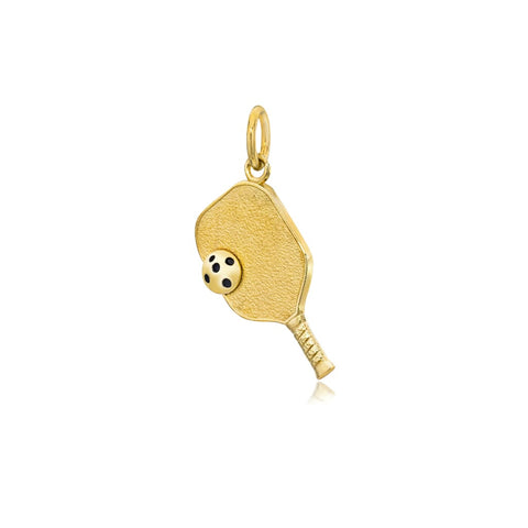 Pickleball Pendant | Paddle & Ball in Gold Plate - Small