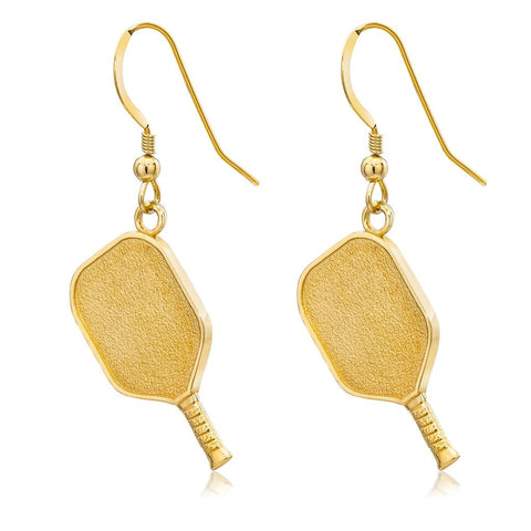 Pickleball Earrings | Paddle in Gold Plate