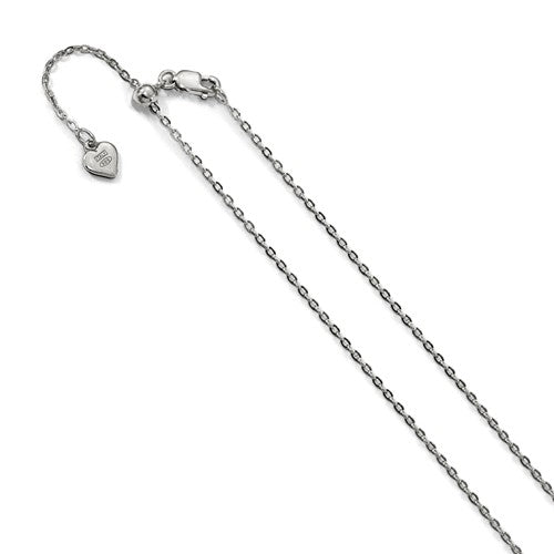 Sterling Silver Adjustable Cable Chain
