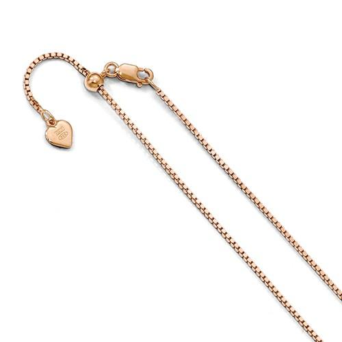 Rose Gold Box Chain Adjustable