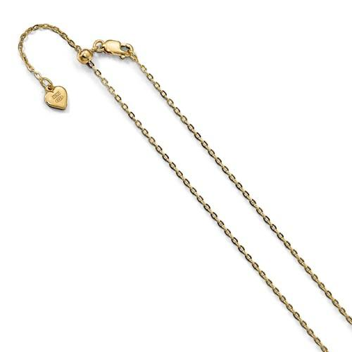 Yellow Gold Cable Chain Adjustable