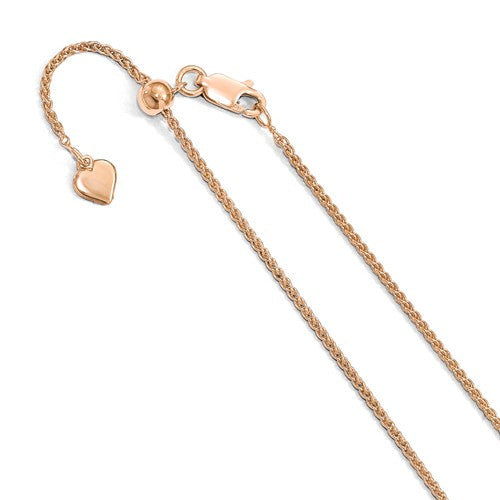 Rose Gold Plated Wheat Chain