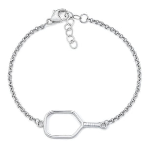 Pickleball Bracelet | Open Paddle in Sterling Silver
