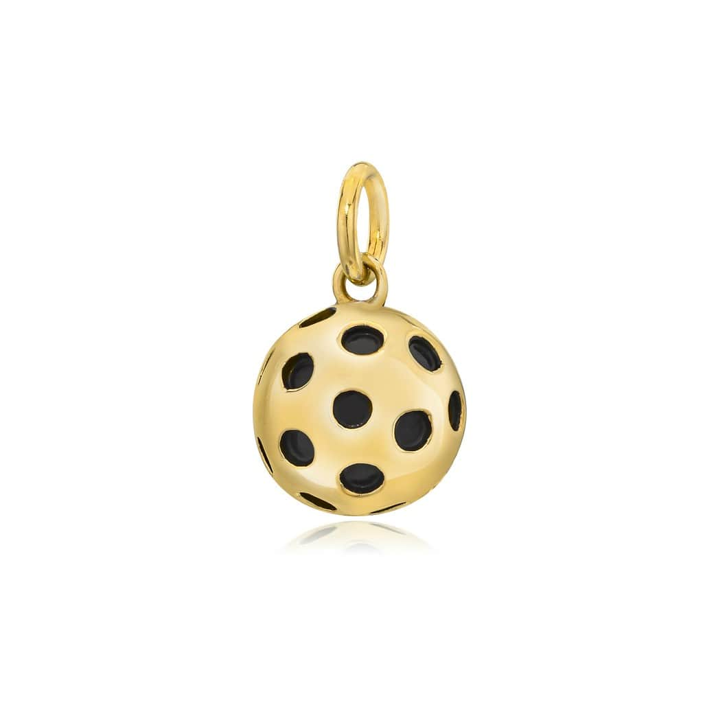 Pickleball Pendant | Solid Ball in Gold Plate