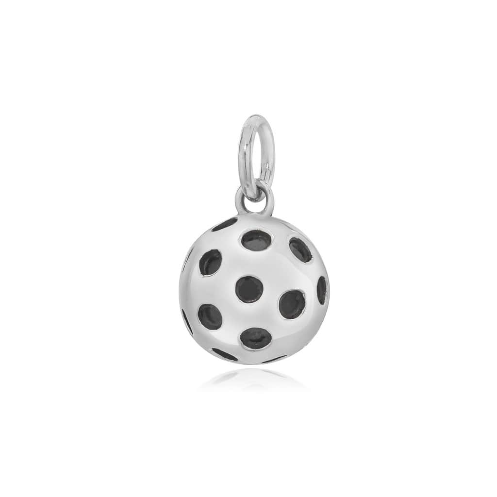 Pickleball Pendant | Solid Ball in Silver