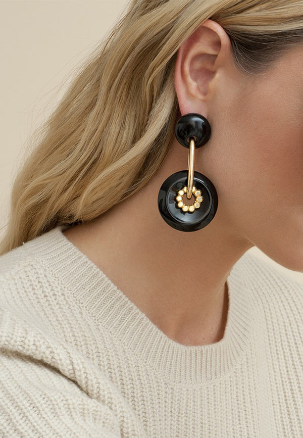 Amalfi acetate earrings