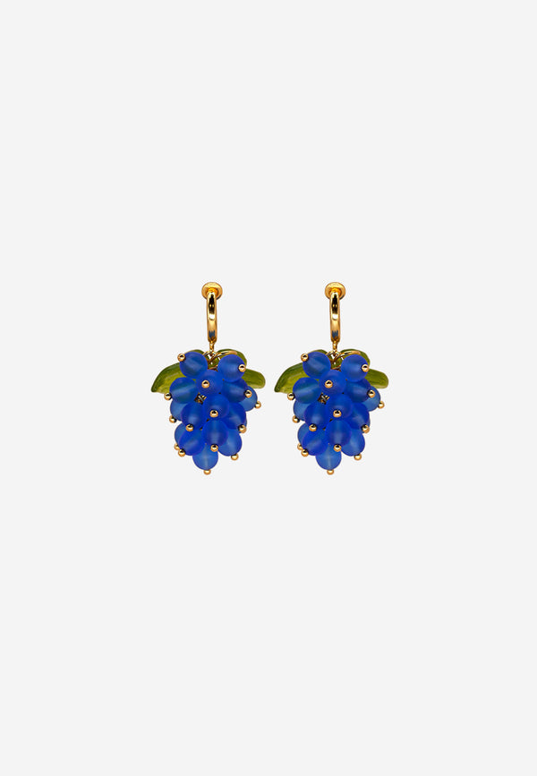 Grape Expectations clip-on earrings