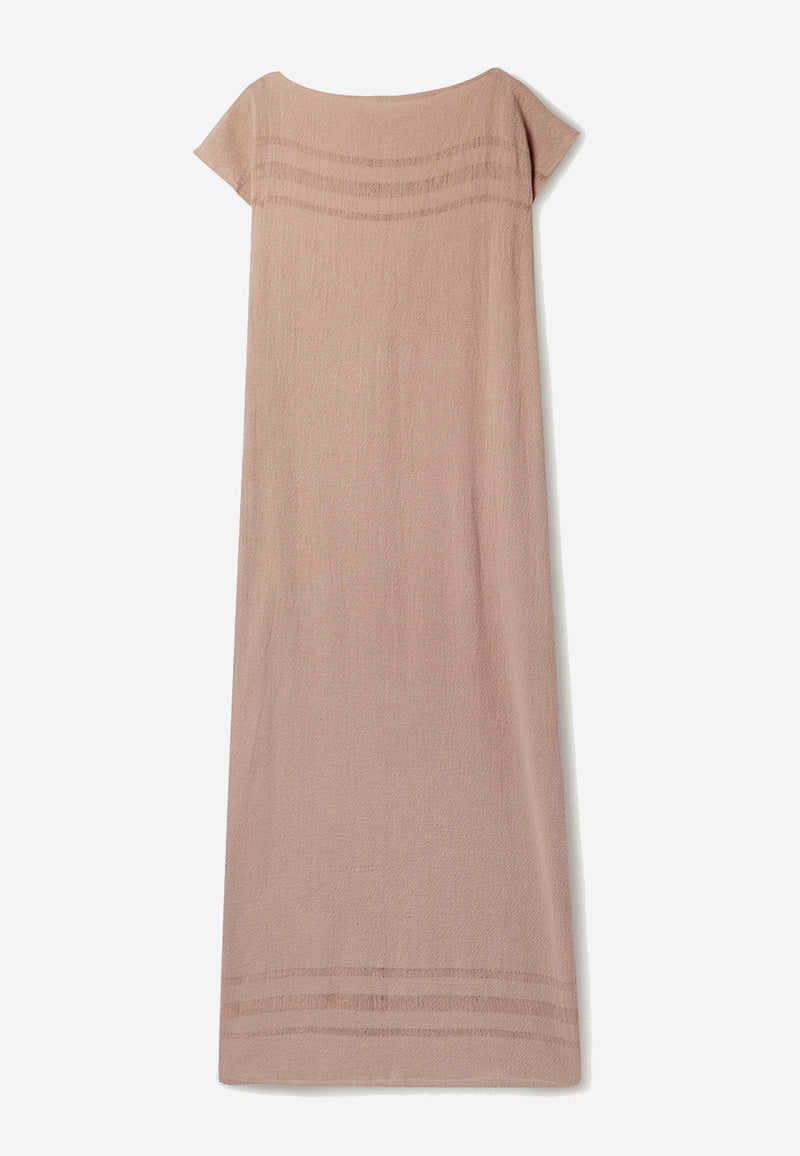 Saay frayed cotton-gauze maxi dress