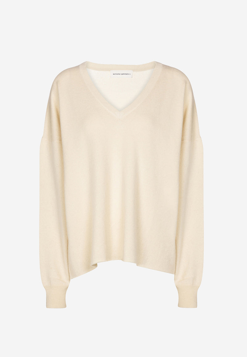 N°161 Clac V-neck stretch-cashmere sweater