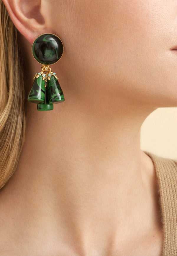 Trapani acetate earrings