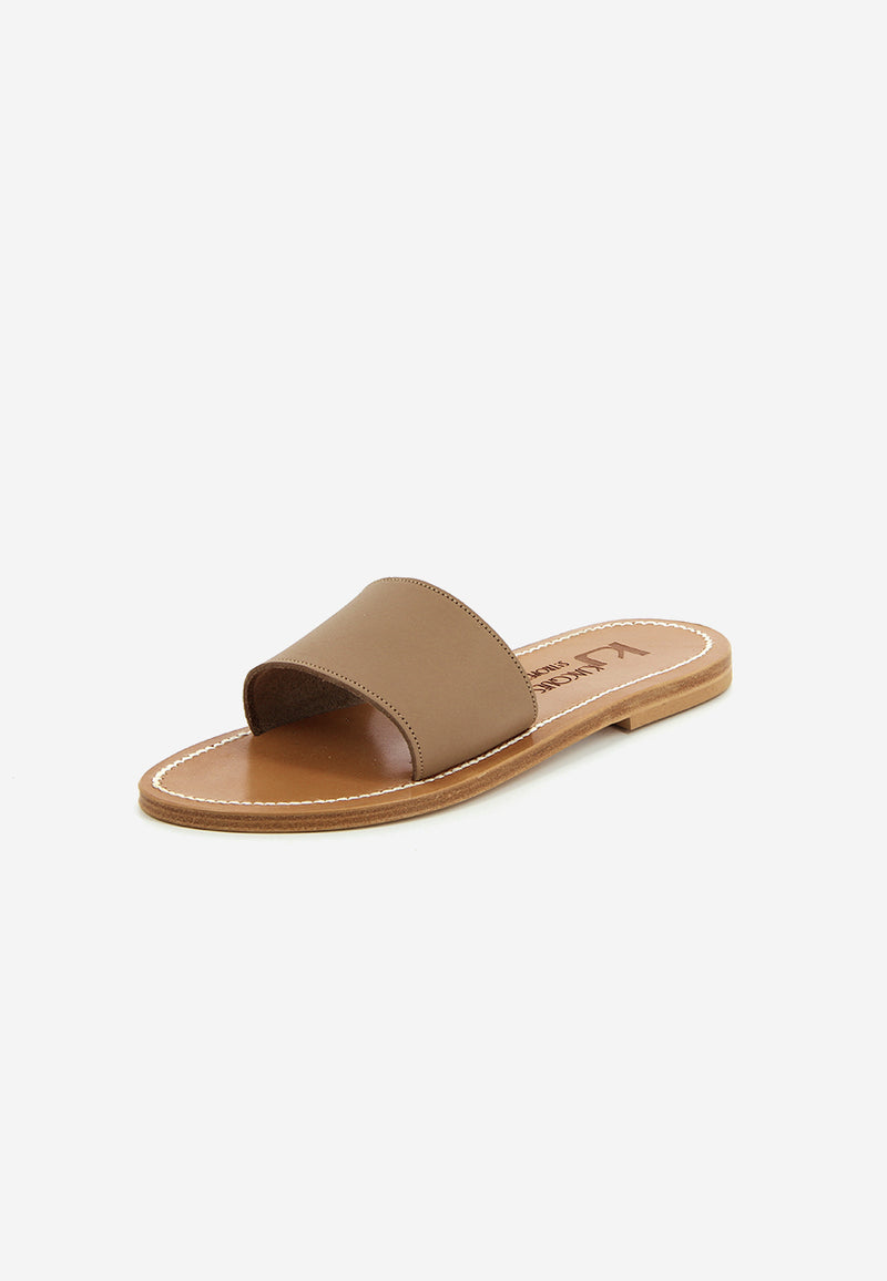 Anacapri leather slides