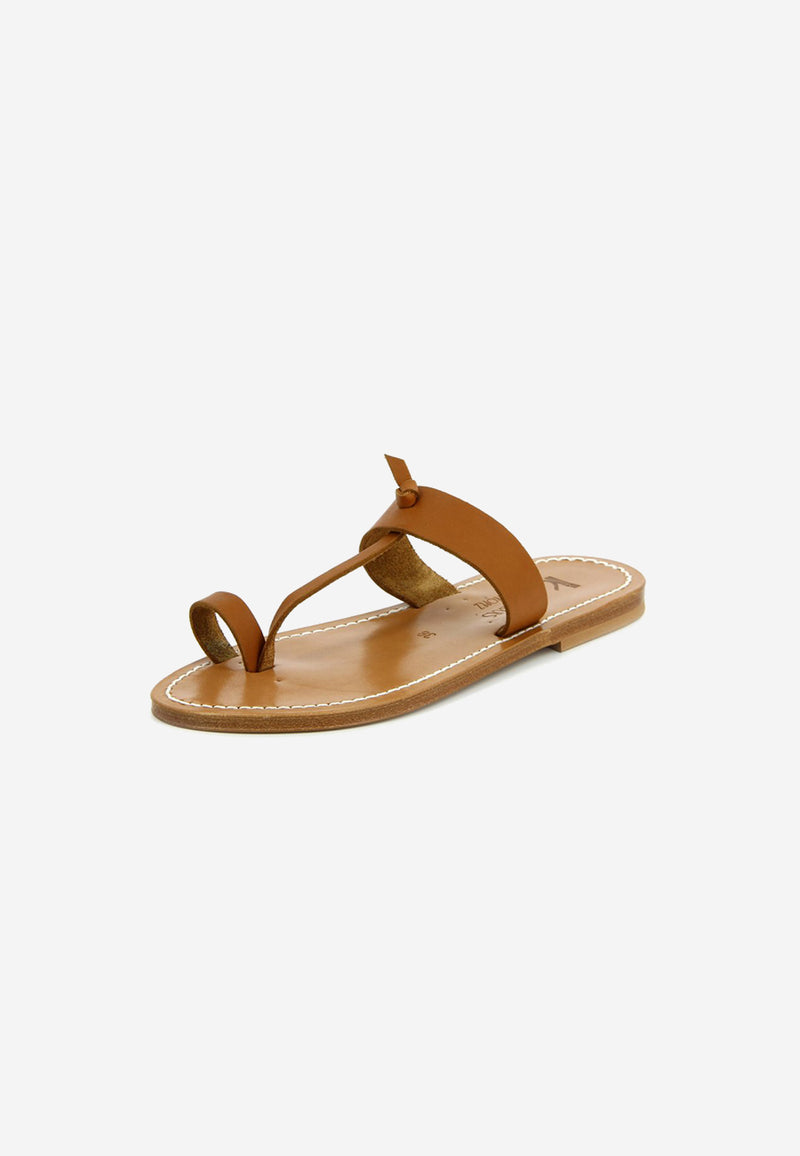 Ganges leather slides