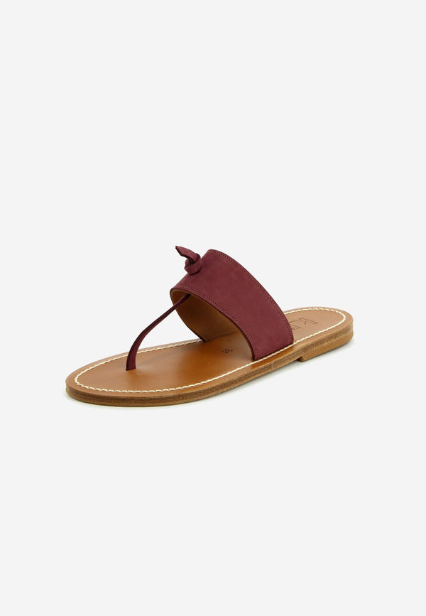 Wouri leather slides