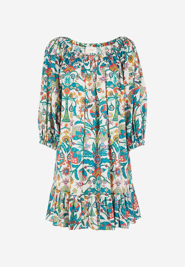 Short Paloma printed dress