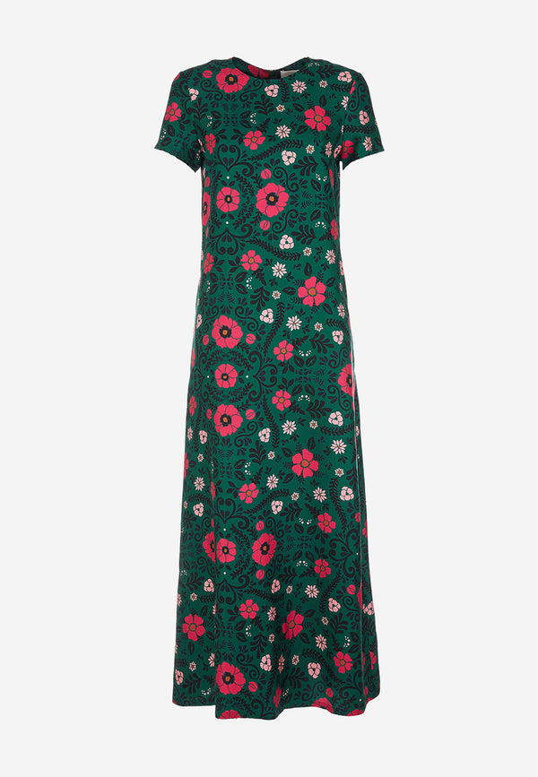 Swing printed maxi dress