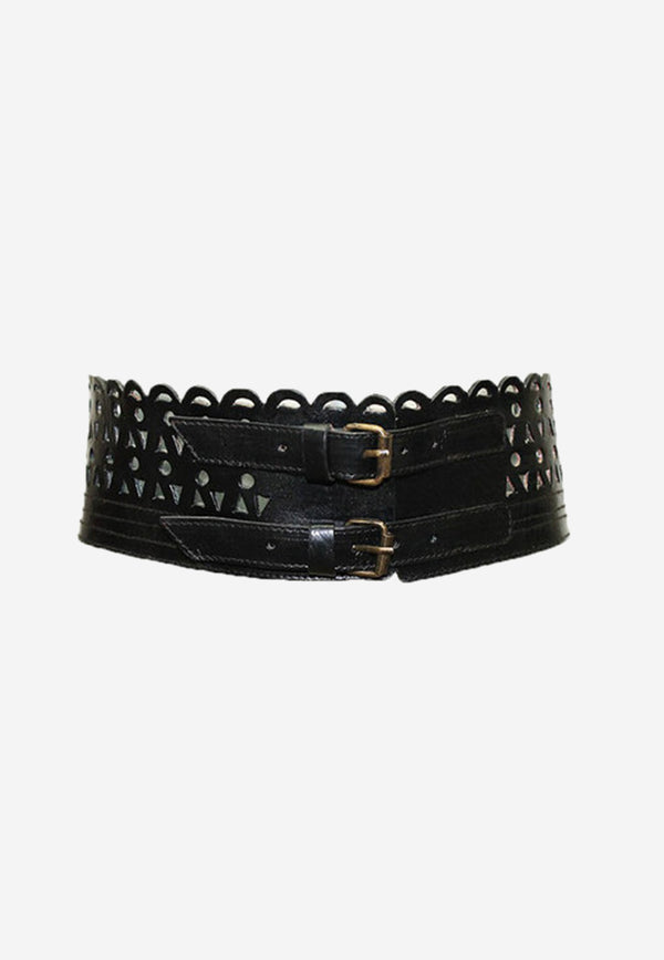 Joan double buckle belt