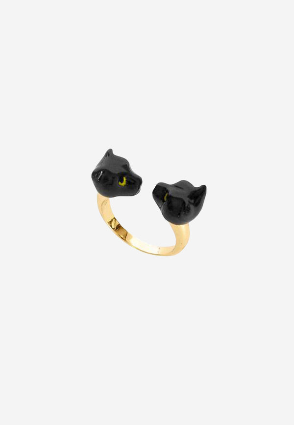 Black Panther face to face ring