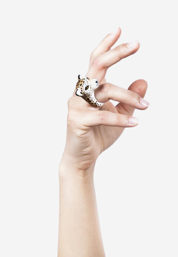 Cheetah porcelain ring