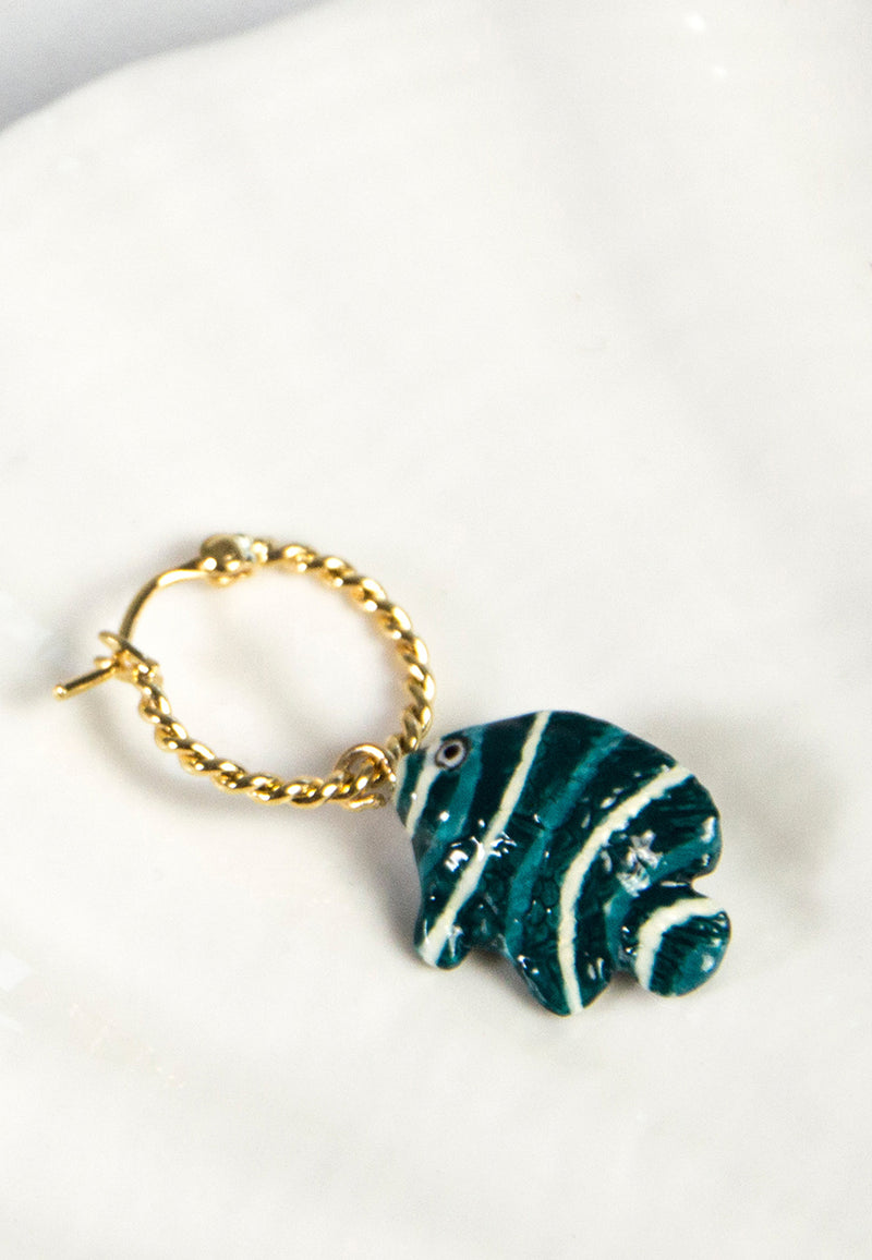 Fish mini hoop earring