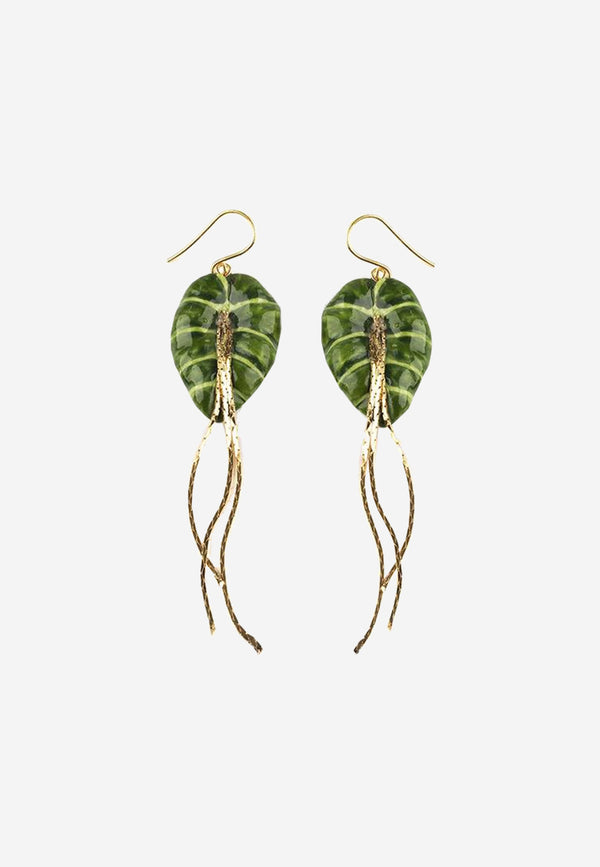 Green Leave Earrings