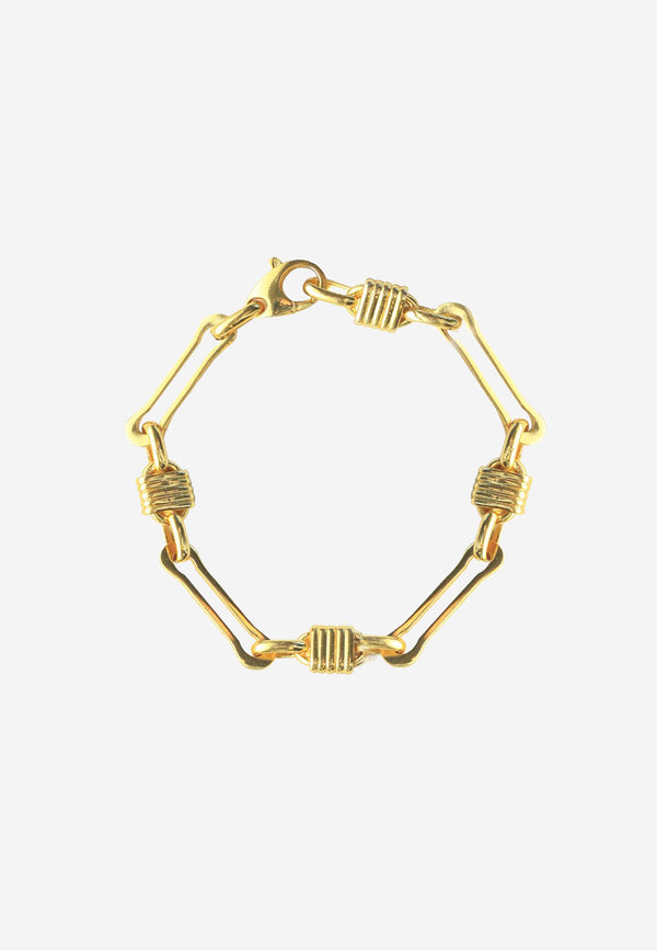 Myra gold plated brass chain bracelet