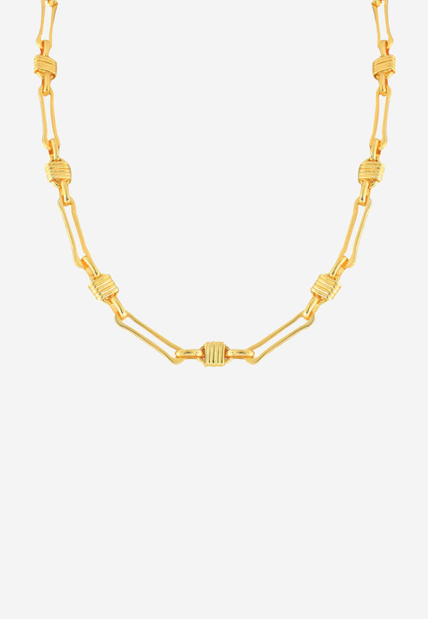 Myra gold plated brass chain necklace