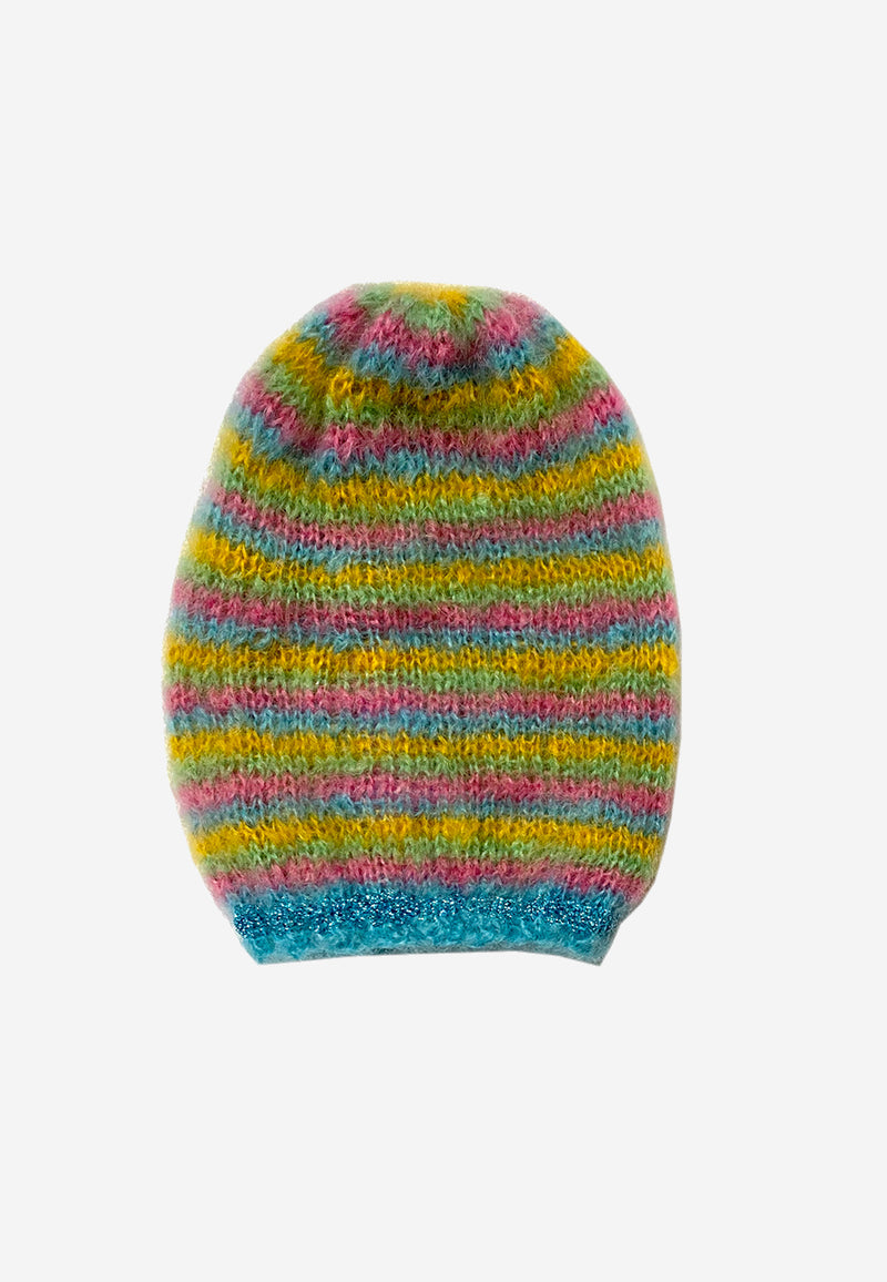 Hand-knitted mohair hat