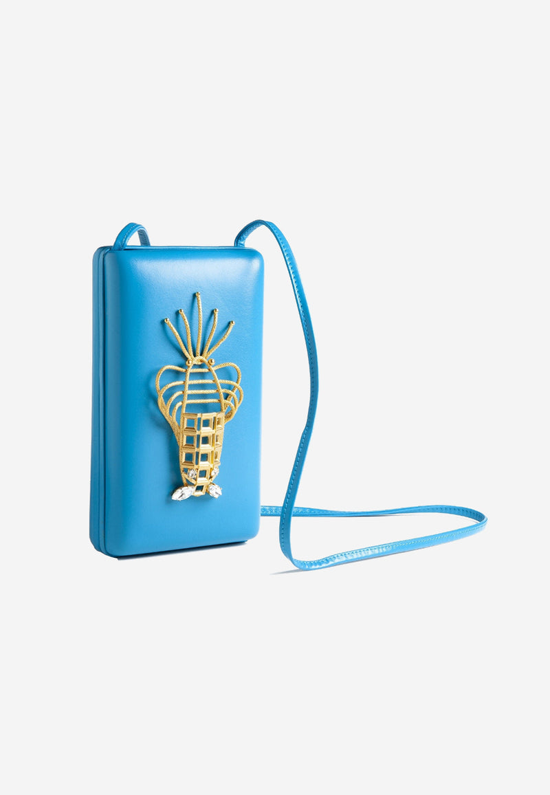 Lobster Clutch Blue