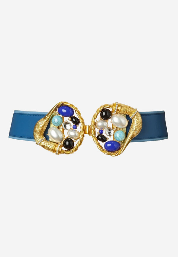 sonia-petroff-swan-statement-belt-blue