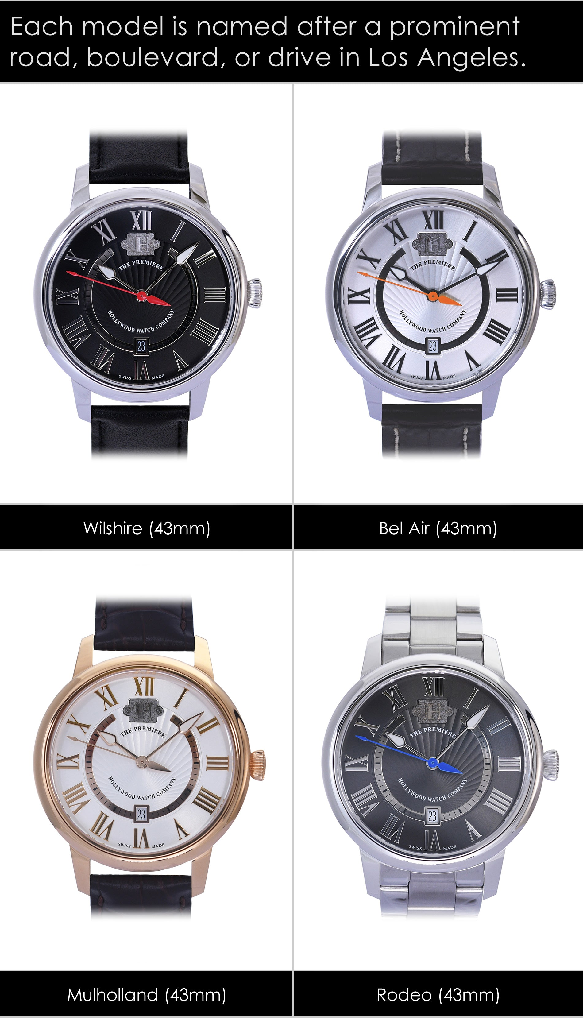 The Premiere Watch 43mm Collection for Men & Women
