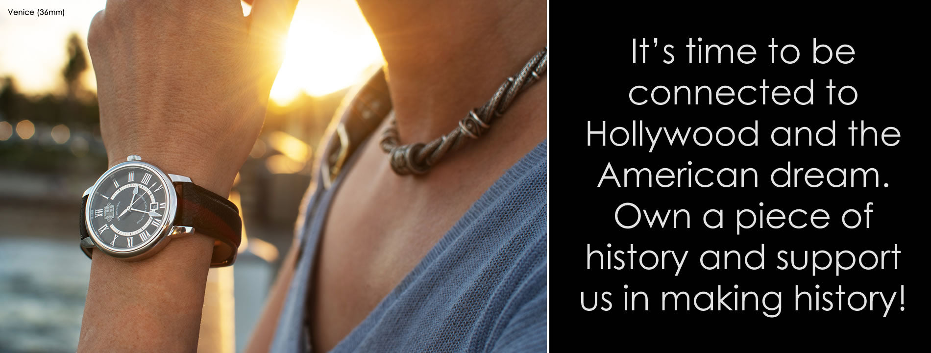It's time to be connected to Hollywood and the American dream. Own a piece of history and support us in making history!