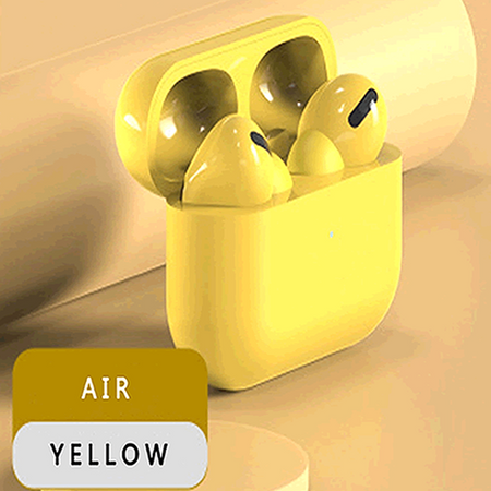 TWS WIRELESS HEADPHONES YELLOW- Magda Store
