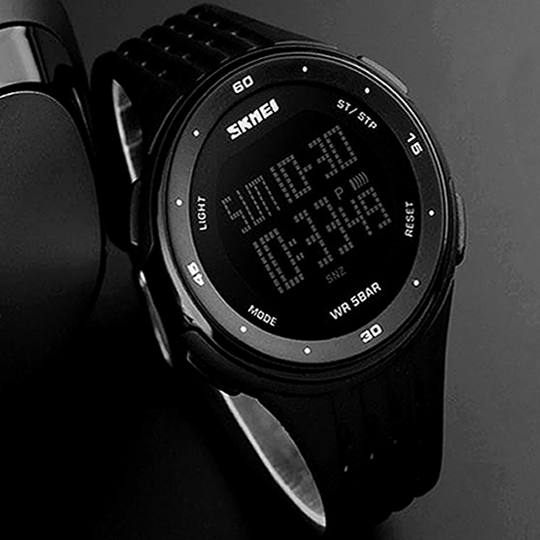 WATCH SKMEI DIGITAL ALL BLACK - Magda Store