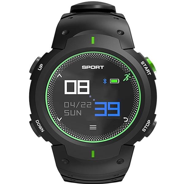 SMARTWATCH RUNNER F13 BLACK GREEN - Magda Store