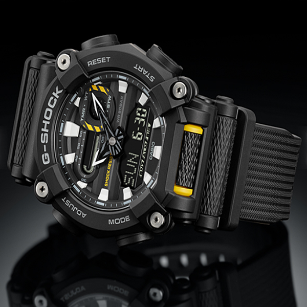 G-SHOCK GA-900-1A BLACK YELLOW - Magda Store