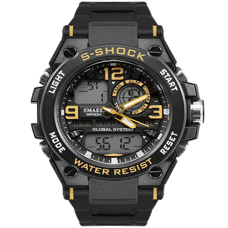 S-SHOCK BLACK YELLOW 1603 - Magda Store