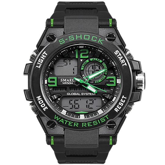 S-SHOCK BLACK GREEN 1603 - Magda Store