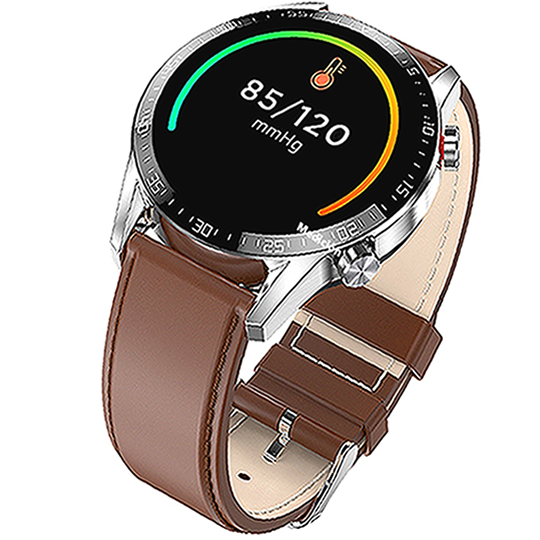 SMARTWATCH L13 LEATHER  BROWN - Magda Store