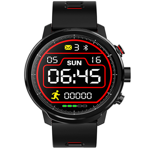L5 PRO SMARTWATCH BLUETOOTH BLACK-RED - Magda Store