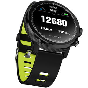 L5 PRO SMARTWATCH BLUETOOTH BLACK-GREEN - Magda Store