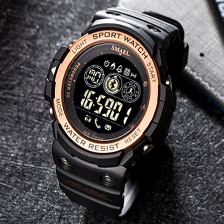 SMARTWATCH SMAEL BLUETOOTH GOLDEN - Magda Store
