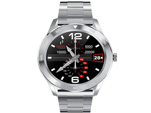 SMARTWATCH DT98 WATERPROOF CALL SILVER METAL - Magda Store